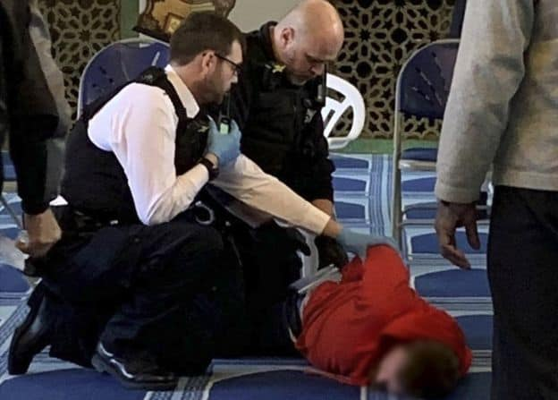 Muslim worshipper at the London Central Mosque