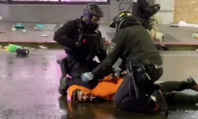 Cop Kneels On Protester's Neck Until Another Cop Stopped Him