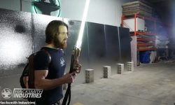 Engineer Creates First Ever Working Lightsaber With Plasma That Can Cut Through Steel