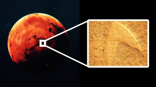 Permalink to NASA Probe Finds Star Trek Logo On The Surface Of Mars