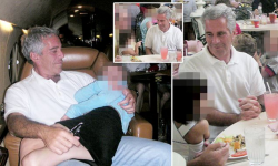 Photos Show Epstein Cuddling With Young Girl On Private Jet
