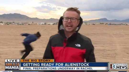 "Permalink to ""Storm Area 51"" Begins With Raiders Naruto Running Past News Reporters"