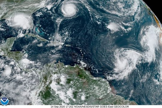 Permalink to Five Cyclone Storms In Atlantic At Once