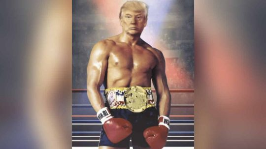 Permalink to President Donald Trump Tweets A Picture Of Himself As Rocky Balboa